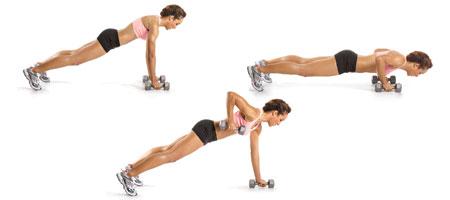 push-up lat row